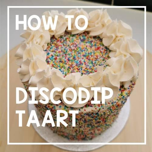 How To: Discodip taart maken